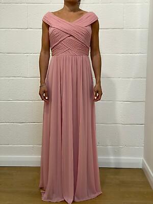 NEW Jenny Yoo Blossom Pink Maxi Bridesmaids Dress - Size UK12