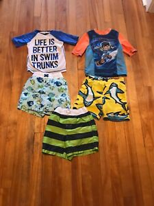 Toddler 4T swim suits and shirts