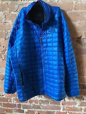 North Face Men's XXL Blue/Black puffer lightweight jacket
