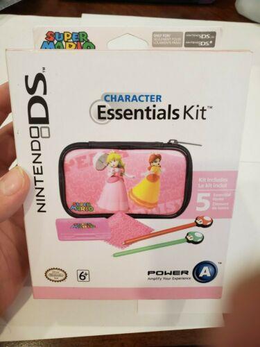 Nintendo DS Character Essentials Kit Peach STYLUS CASE CART HOLDER Brand New