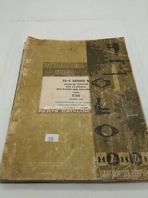 Ih International Td9 Crawler Parts Manual Catalog B Series 1966