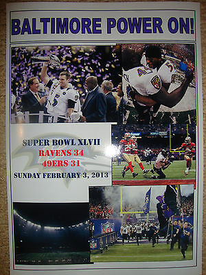 Baltimore Ravens 34 San Francisco 49ers 31 - 2013 Super Bowl - souvenir print