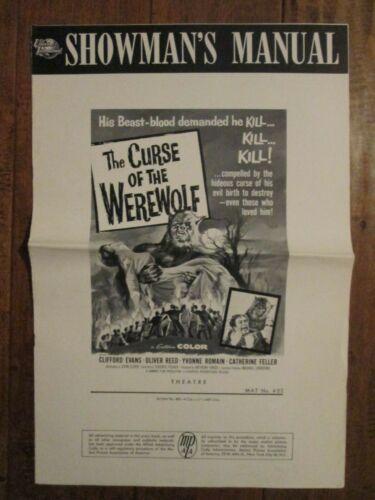 Curse Of The Werewolf - Original 1961 Pressbook - Oliver Reed