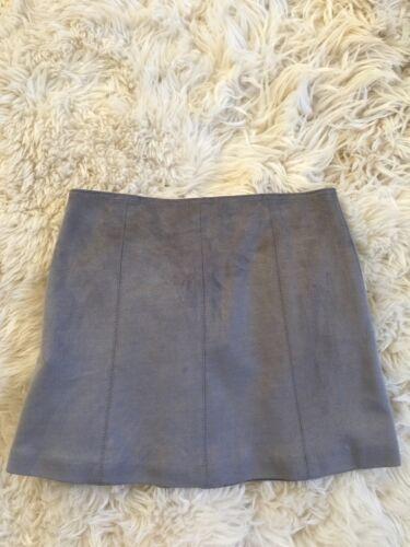 NEW Girls Zara Grey Studded Soft Suede Skirt Sz. 8 Years