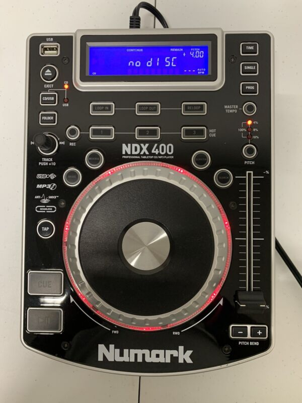 Numark NDX 400 DJ Professional Tabletop CD/MP3 Player Controller