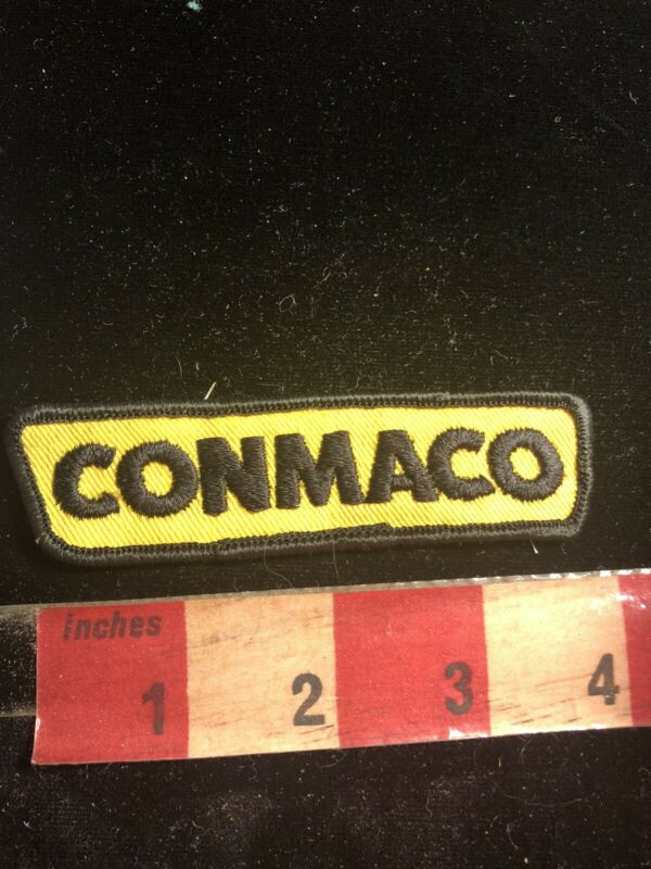 Vtg CONMACO Equipment Embroidered Cloth Advertising Patch 02RK