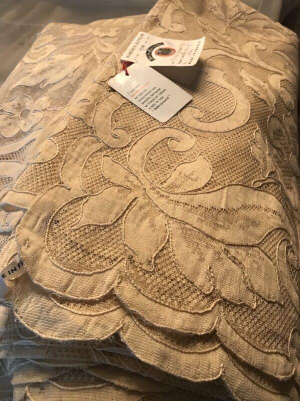 huge 156 inch Antique banquet Alencon Lace Tablecloth