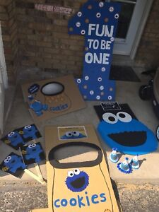 Cookie Monster 1st Birthday decorations