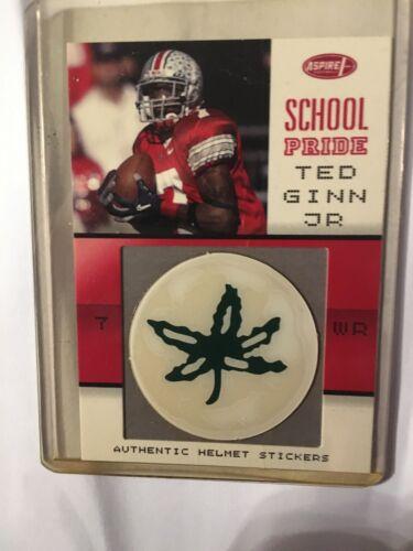 2007 Aspire School Pride SP-04 Ted Ginn Jr. Authentic Helmet Stickers - $2.25