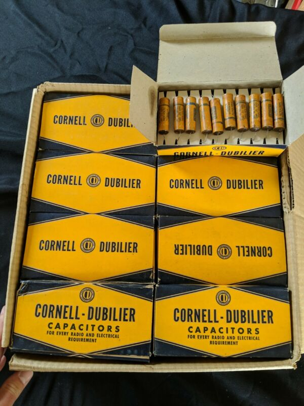 Lot of 400 Vintage NOS Wax Capacitors Cornell-Dubilier .01uf 1600V. Guitar tone