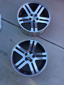 Two Dodge Charger Rims