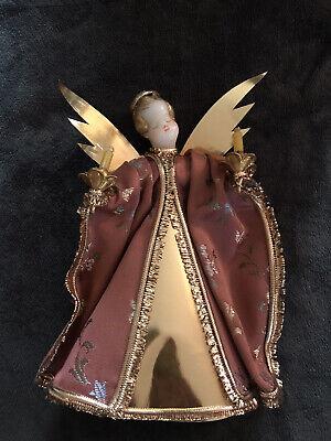 Vintage Christmas Tree Topper Angel, Mint Condition Wt Original Box