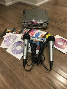 Karaoke Machine with 2 Mic's & CDs