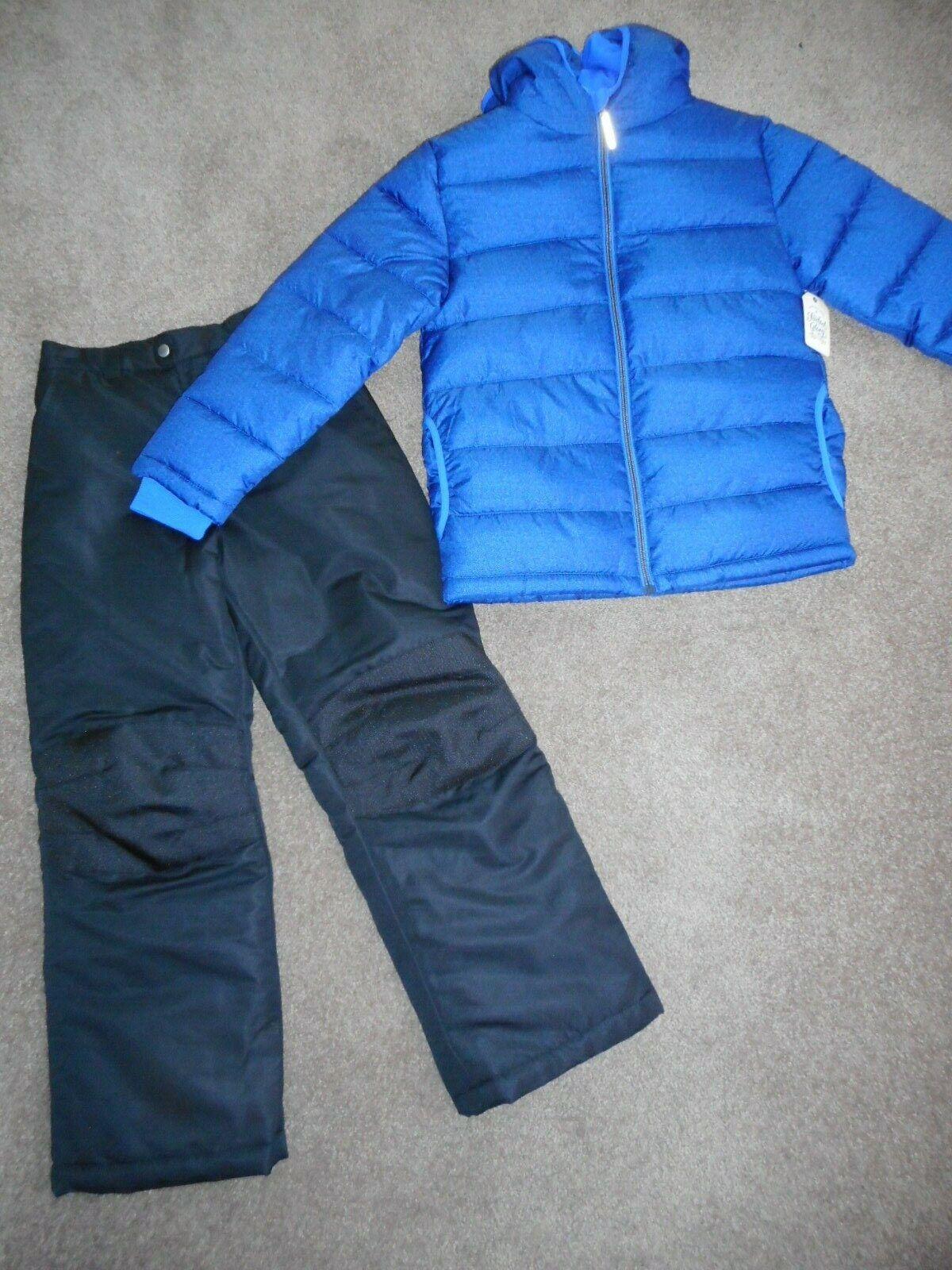 Snowsuits Boys ski pants Puffer Jacket Coats Navy Blue Snow