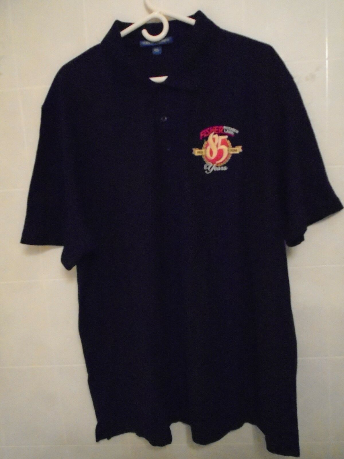 FISHER RESEARCH LAB 85 YEARS POLO SHIRT  SIZE 2 XL NEW