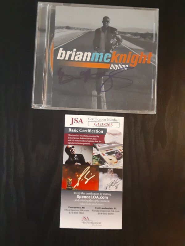 BRIAN McKNIGHT R&B AUTOGRAPHED SIGNED ANYTIME CD JSA CERTIFICATE OF AUTHENTICITY