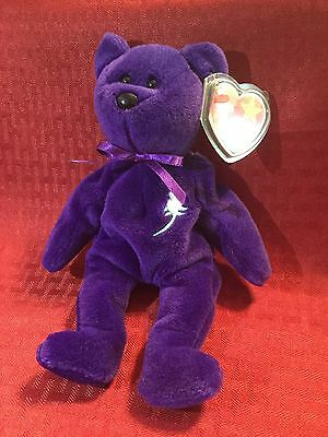 RARE Ty Beanie Baby Princess Diana 1st Edition/PVC/ NO Space/ From Canada!!!!