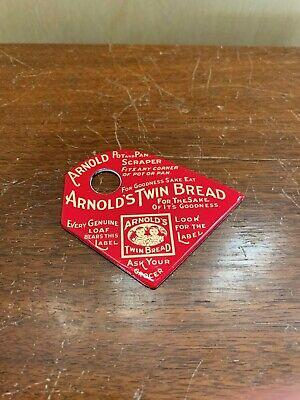 Arnold's Twin Bread Loaf Pot Pan Kitchen Metal Scraper Sign Vintage Like?