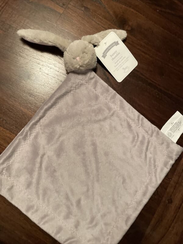 Pottery Barn Kids Bunny Thumbie Lovey Security Blanket  Baby Rabbit NWT Soft New