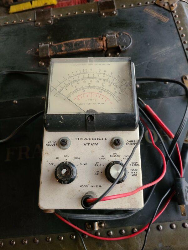 Heathkit VTVM Model IM-5218 Vacuum Tube Volt Meter I