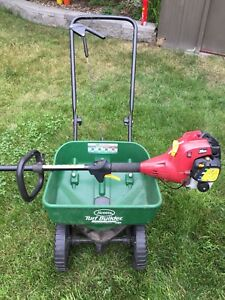 Weed Eater Trimmer Lawn Fertilizer Spreader COMBO