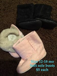 Size 12-18 month soft sole boots