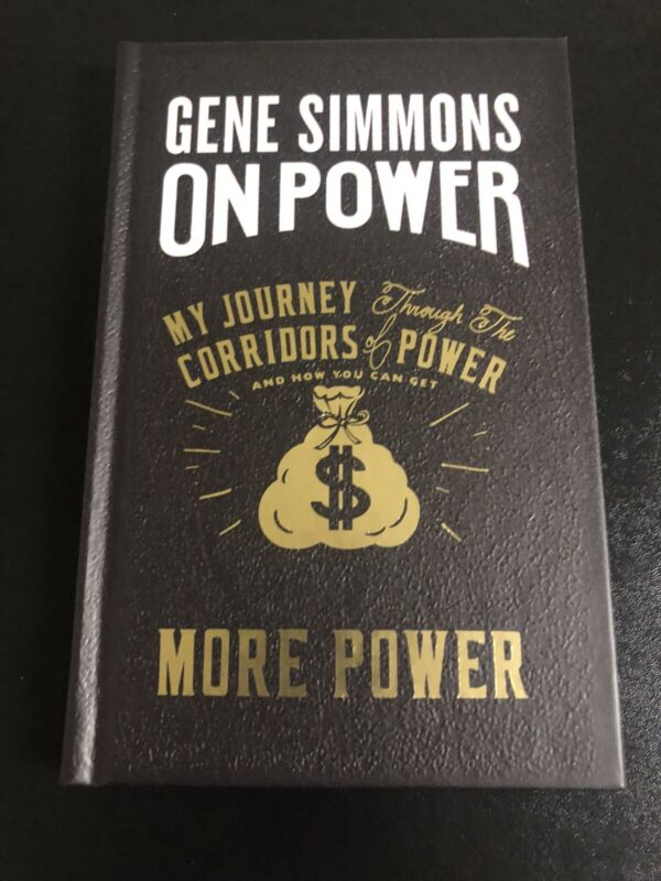 Autographed Gene Simmons Book More Power Signed In Person At Book Store
