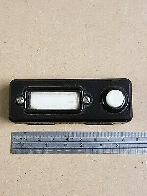 ORIGINAL BAKELITE  DOOR BELL PUSH WITH NAME CARD HOLDER