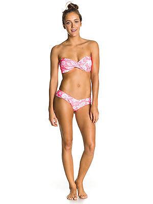 Neu Roxy Twist Bandeau Sweetheart Damen Bikini Set Allover Print pink Gr. S - Roxy Print Bikini