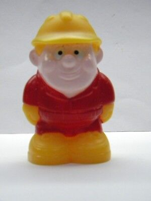 Construction Worker Figure Preschool People Red Yellow Hard Hat Plastic *as-is , used for sale  Wilmington