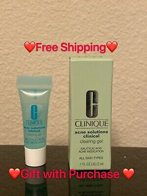 NIB CLINIQUE Acne Solutions Clinical Clearing Gel 0.1oz/3mL Mini Travel Size