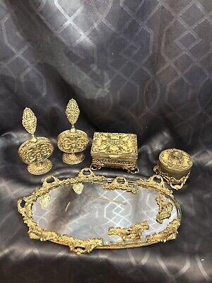 Vintage Dresser Set Hollywood Regency 5 pc set