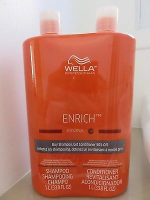 Wella ENRICH DUO Shampoo and Conditioner  Hair 33.8 oz Each / FAST SHIPPING