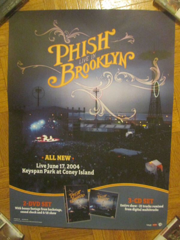 "Phish Live In Brooklyn 18""x24"" Promo Poster"