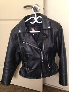 Ladies Leather size Medium biker coat for sale