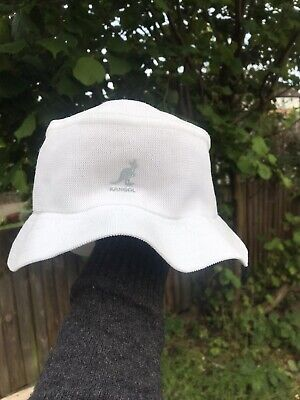Unisex Kangol Logo Bucket Hat Cotton Size L
