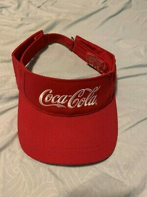 Coca Cola Coke Red Visor cap hat adjustable