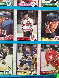 1989/90 O-Pee-Chee OPC Hockey Uncut Sheets Complete Set Stratford Kitchener Area image 2