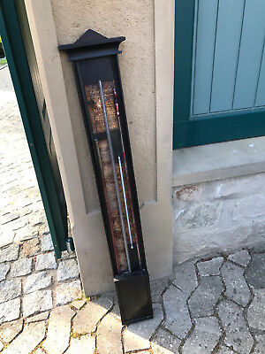 Stock Barometer Anfang 19. Jahrhundert Nottul(e)n/Osnabrück mit Reaumur signiert