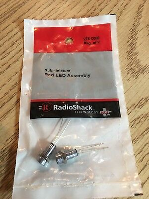Radioshack Subminiature Red Led Assembly 2 Pack 2760068 Free Shipping