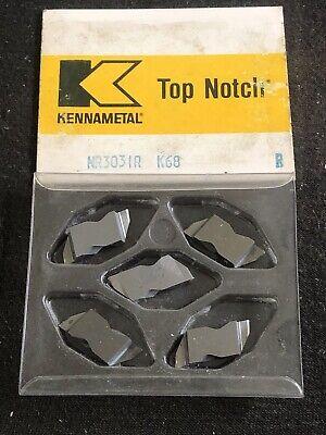 Qty. 5 Kennametal Nr3031r Nr32r K68 Carbide Top Notch Grooving Inserts. Usa