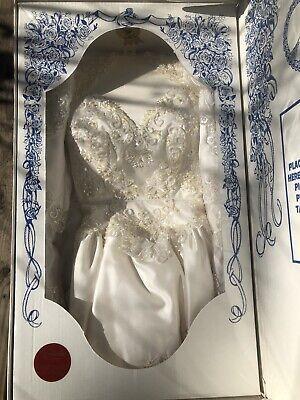Vintage Pearl Encrusted Wedding Gown by Jack Diamond Cleaned & Vacuum Sealed