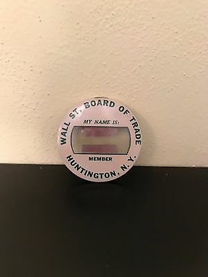 Wall Street Board Of Trade Member Badge Dow Jones Wall Street Nasdaq Trader