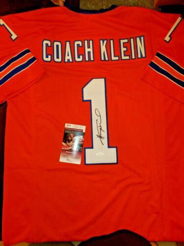 """Henry Winkler signed SCLSU Muddogs prostyle Jersey """"Coach Klien"""" - JSA"""