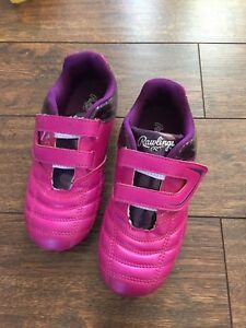Size 1 pink cleats
