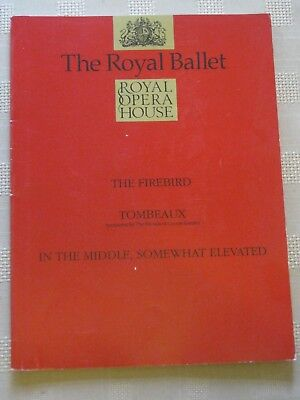 Royal Opera House Program /17 FEB 1993 / THE FIREBIRD / TOMBEAUX / IN THE MIDDLE