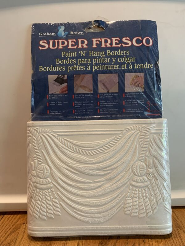 "Super Fresco Paint N Hang Border Graham & Brown - 6.9"" By 5 Yards"