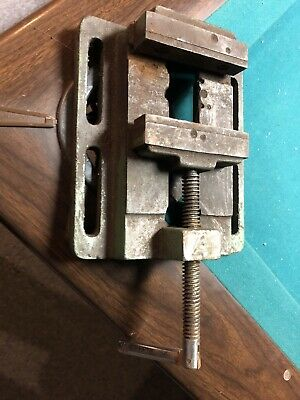 Vintage 4 Drill Press Machinist Lathe Vise Milling Precision Work Holding