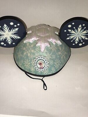 Disney Parks Disneyland Walt World Anna Elsa FROZEN Double Sided MICKEY EARS Hat - Frozen Mickey Ears