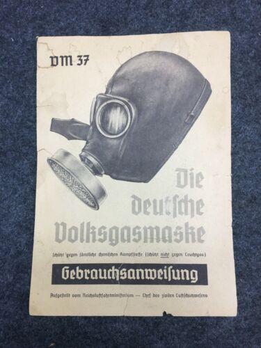 German WWII Civilian Gas Mask Manual